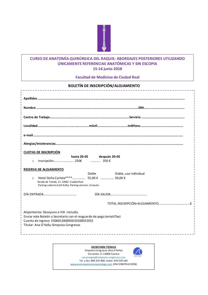 boletín de inscripción CURSO RAQUIS-001